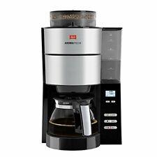 Melitta Aroma Fresh Filter Kaffeemaschine schwarz Mahlwerk Timer Edelstahl 10T.