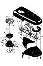 savers Murray 625 / 56 TM6000 Wheeled Strimmer CUTTER HEAD 1695797 770037 1148