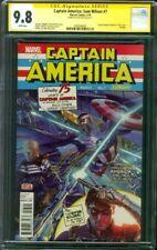 Captain America Sam Wilson 7 CGC SS 9.8 Alex Ross Signed Winter Soldier 5/16