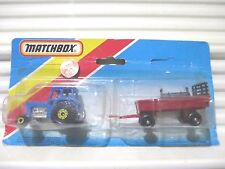 LESNEY Matchbox 1983 TP108 Blue TRACTOR + Red HAY TRAILER Two Pack Nu+Unopnd Pk