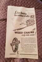 Weed Tyre Chains - American Chain Company - 1928 Advertisement