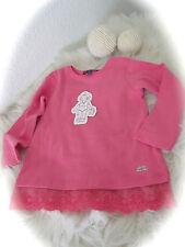 °Lili Gaufrette° toller Pullover mit Spitze soft weich pink 3A 98 NEU