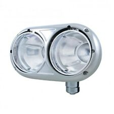 UNITED PACIFIC Peterbilt 359 Style Dual Headlight Housing - 304 Stainless 32189