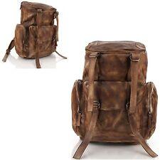 Man backpack Men bags Shoulder Bag Business Backpack Bag Cow Leather 5083 Camel