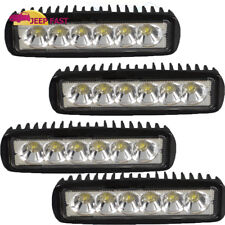 7inch 72W Single Row LED Work Light Flood Combo Lada Niva Boat Marine Spreader
