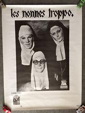 LES NONNES TROPPO - Conference publique - 1996 / affiche concert poster vintage
