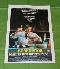 original RE-ANIMATOR Belgian movie poster Jeffrey Combs