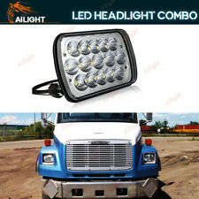 1P 7X6 LED Headlight For Freightliner FL106 FL112 FL60 FL70 FL80 FS65 MT35 MT45