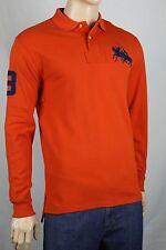 Ralph Lauren Large L Orange Big Navy Blue Pony Match Classic Fit POLO NWT