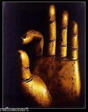 Handmade Buddha Oil Painting on Canvas Buddhist Gestures