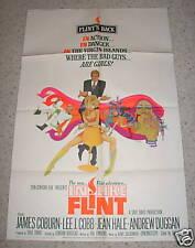 """""""IN LIKE FLINT"""" 67, 1SH poster, JAMES COBURN, PEAK art"""