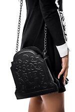 KillStar Sara Sins RIP Handbag Purse NEW Black Goth Cemetery Tombstone Vegan