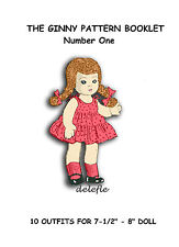 Ginny Doll Pattern 7-8 inch outfits Book No. 1 wardrobe