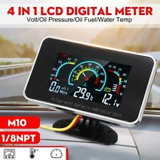3 In1 LCD Digital Volt Gauge Water Temp Gauge Oil Pressure Gauge Motorcycle Car