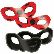 Official MIRACULOUS LADYBUG Party MASKS 8 Pack Favours Birthday Girls Decoration