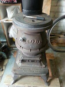pot belly wood burner vintage glob 3