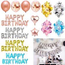 Latex Confetti Balloons Happy Birthday Banner Wedding Party Decoration Supply