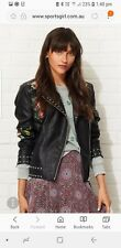 Sportsgirl embroidered biker jacket
