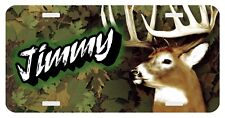Personalized Monogrammed License Plate Auto Car Tag Deer Hunting Camouflage Buck