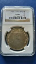 1923-B SWITZERLAND 5 Francs Silver Coin William Tell NGC AU-50