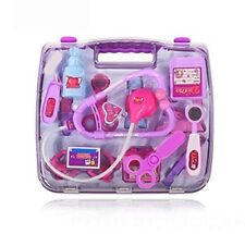 Childrens Role Play Doctor Nurses Medical Set Toy Kit Gift Hard Carry Case PINK