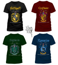 Official HARRY POTTER Slytherin Gryffindor Hufflepuff QUIDDITCH T-Shirt Tee NEW