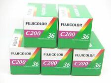 5x Pellicola 35mm Rullino Colore Fujifilm Fujicolor C200 200 ASA 135-36 (5pz.)