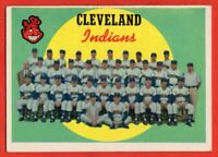 1959 Topps #476 Cleveland Indians VG-VGEX+ WRINKLE Rocky Colavito Roger Maris