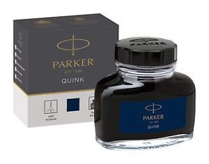 PARKER JAPAN FOUNTAIN Pen Ink Bottle 57ml QUINK S1162120 Blue Black
