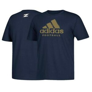 Akron Zips NCAA Adidas Spray Football Graphic Men's Navy Blue T-Shirt