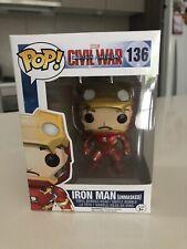 Funko Pop Vinyl Civil War Iron Man (Unmasked) #136