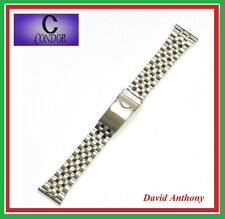 CONDOR 22mm STAINLESS STEEL WATCH BRACELET, SAFETY CLASP,  FITS JUBILEE