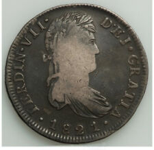 1821 Zs-RG Mexico Zacatecas Royalist Mint Ferdinand VII 8 Silver Reales WIDE XF