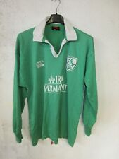 Maillot rugby IRLANDE IRELAND 2002 vintage coton CANTERBURY shirt vert home M