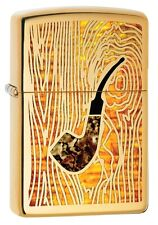 "ZIPPO ""PIPE in FUSION"" POLISHED BRASS COLOR PIPE LIGHTER ** NEW in BOX **"