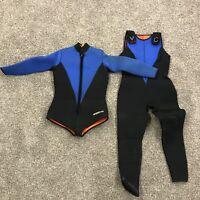 Henderson 2 piece John & Jacket Set Scuba Diving Wetsuit Combo Blue Size Small