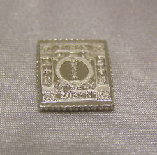 SOLID SILVER STAMP JAPAN 1874 20-SEN CHRYSANTHEMUM SYLLABIC 1 SPECIMEN DOT
