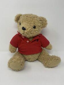 Vintage Ralph Lauren Polo Teddy Bear Plush Stuffed Animal Red Collared Top Rare