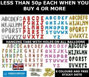 "16"" Alphabet A-Z Letter Foil Balloons Name Party Wedding # &  8 Colours"