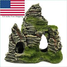 Mountain View Aquarium Rock Cave Stone Tree Bridge Fish Tank Ornament Decoration