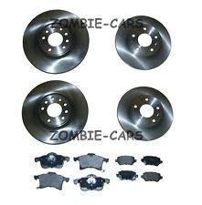 Vauxhall Zafira MK2 1.9 CDTi Front & Rear Brake Discs & Pad Set 2005 to 2011
