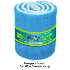"""10 Feet of Blue and White Air Filter Media Roll Merv6 Polyester Media - 12"""" Wide"""