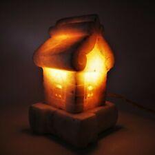 Vintage White House Night Light Lamp USSR Marble Rare Natural Stone Soviet Decor