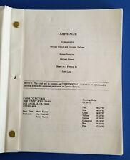 CLIFFHANGER original shooting script 1993 SYLVESTER STALLONE JANINE TURNER rocky