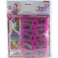 Jojo Siwa Birthday Party Supplies Favor Pack 48 Pc Glasses Tattoos Stickers
