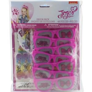Jojo Siwa Birthday Party Supplies Favor Pack 48 Pc Glasses Tattoos Stickers