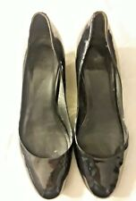 Cole Haan women's black Patent Leather wedge 8