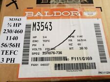 Baldor Motor Part Number M3543 3/4 HP, TEFC  60HZ 230/460 V 1140 RMP 56/56H FR
