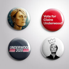 4 CLAIRE UNDERWOOD HOUSE OF CARDS -  Pinbacks Badge Button 25mm 1''