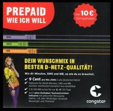 0170 — 333 11 *7 — CONGSTAR D1 Rufnummer Prepaid Sim-Karte 0171 VIP Handy-Nummer